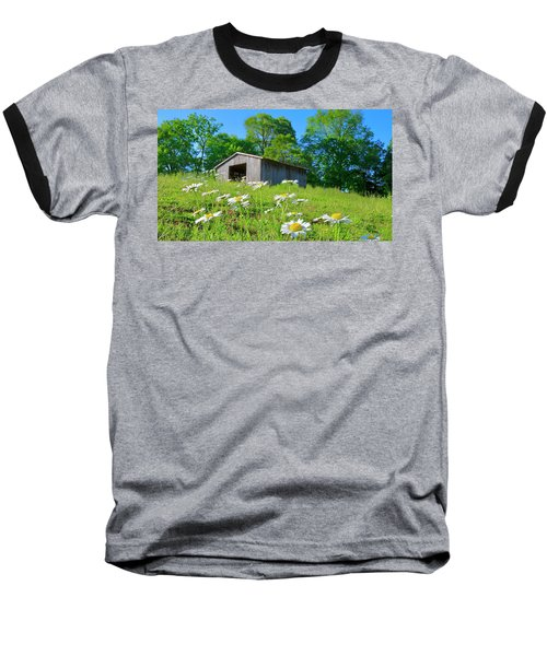 Flowering Hillside Meadow Baseball T-Shirt