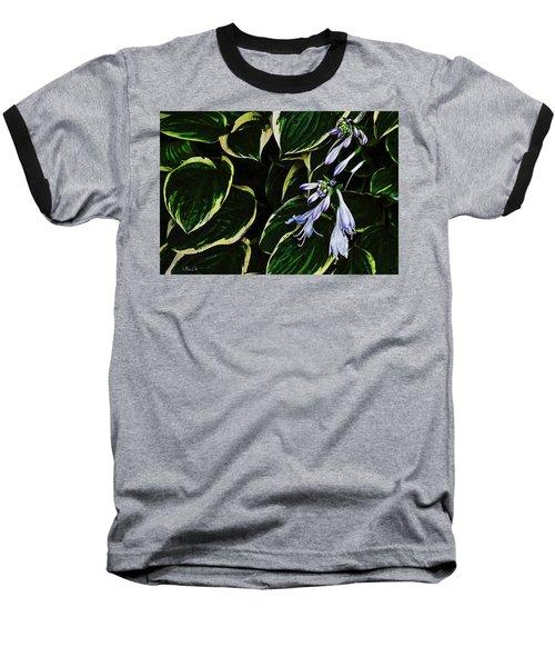 Flowering Hosta Baseball T-Shirt