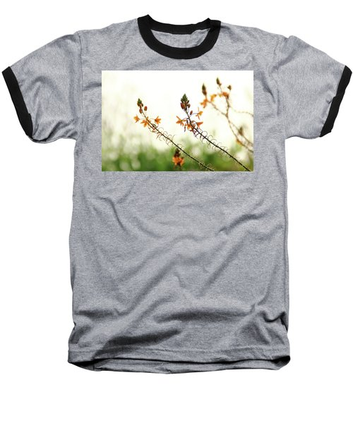 Baseball T-Shirt featuring the photograph Flowering In Israel At The Sunset by Yoel Koskas