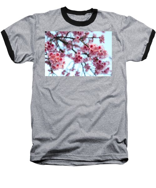 Baseball T-Shirt featuring the photograph flowering of the almond tree, Jerusalem by Yoel Koskas