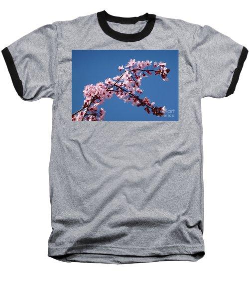 Flowering Of The Plum Tree 4 Baseball T-Shirt by Jean Bernard Roussilhe