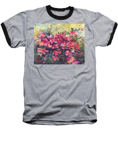 Flowering Quince Baseball T-Shirt