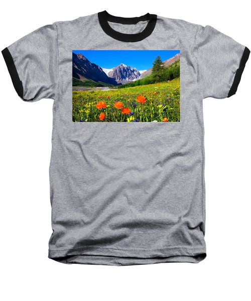 Flowering Valley. Mountain Karatash Baseball T-Shirt