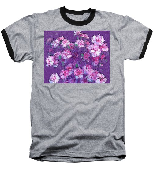 Flowers #063 Baseball T-Shirt by Barbara Tristan