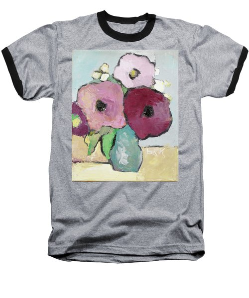 Flowers 1601 Baseball T-Shirt by Becky Kim