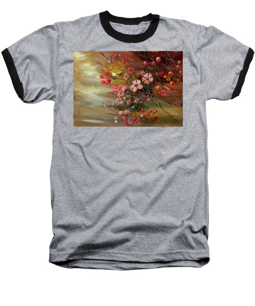 Flowers 2 Baseball T-Shirt