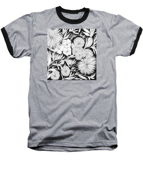 Baseball T-Shirt featuring the painting Flowers 3 by Lou Belcher