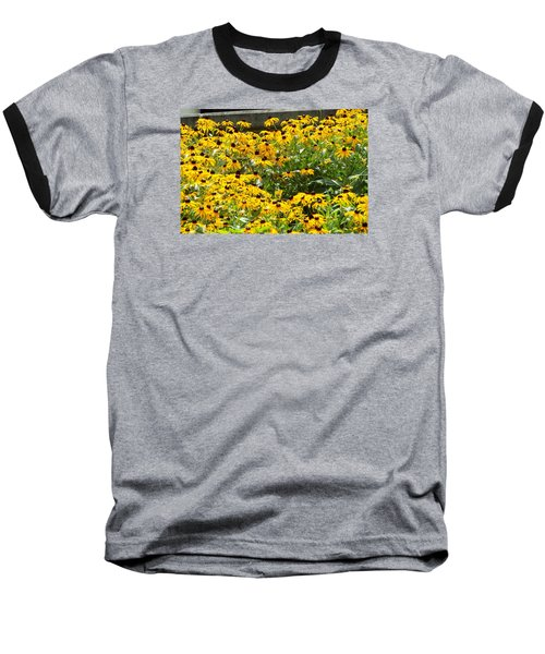 Flowers A Go Go Baseball T-Shirt by Jake Hartz