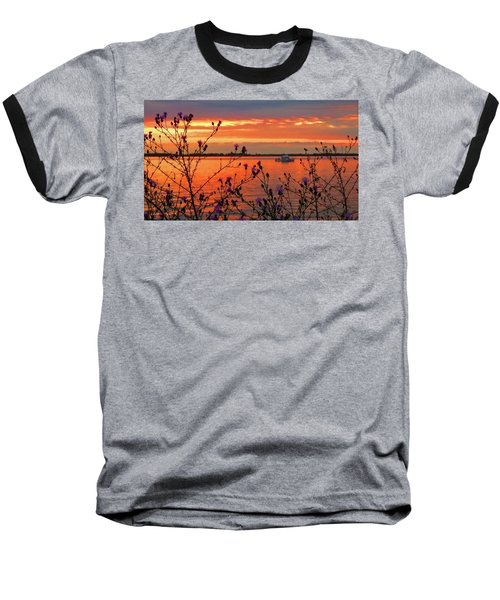 Flowers Along The Shore At Tibbetts Point  Baseball T-Shirt