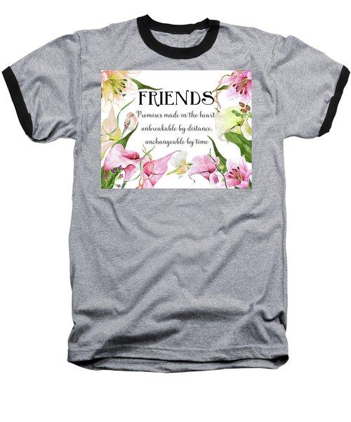 Flowers And Birds Baseball T-Shirt