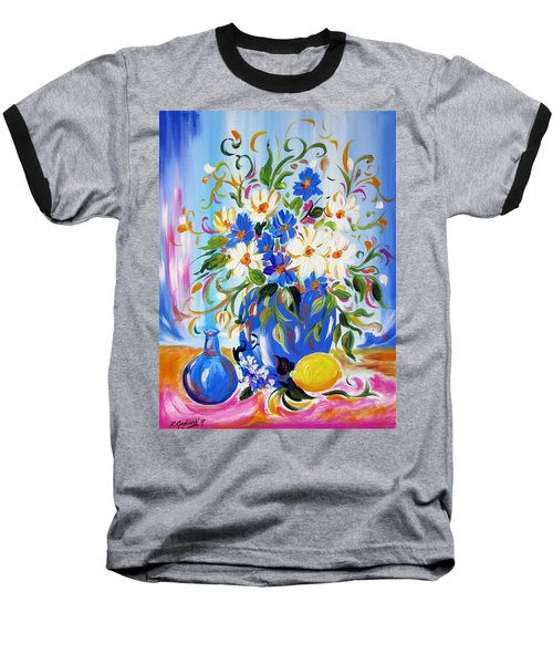 Flowers And Lemon Baseball T-Shirt