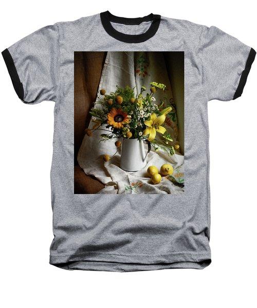 Flowers And Lemons Baseball T-Shirt