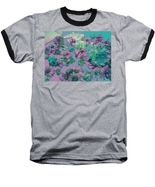 Baseball T-Shirt featuring the photograph Flowers And Paper by Barbara Tristan