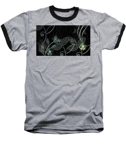 Flowers And Rain Baseball T-Shirt by Carol Crisafi