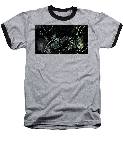 Flowers And Rain Baseball T-Shirt