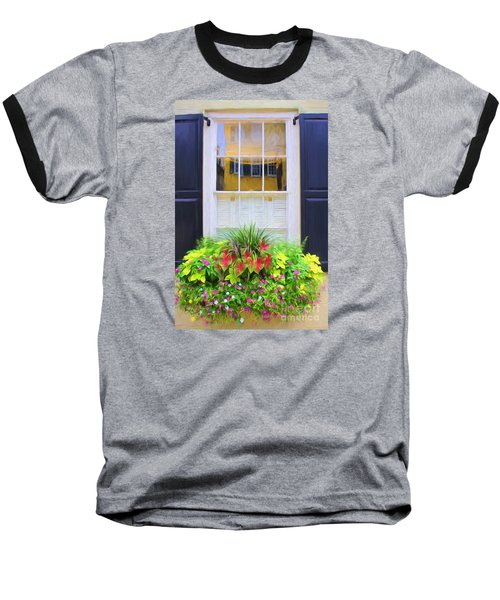 Flowers And Reflections Baseball T-Shirt
