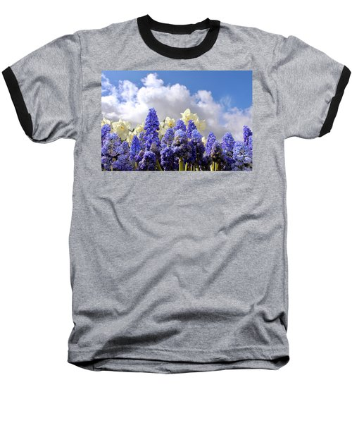 Flowers And Sky Baseball T-Shirt
