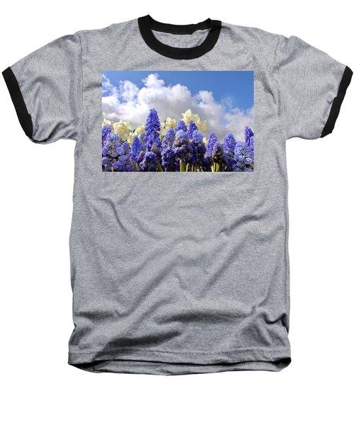 Flowers And Sky Baseball T-Shirt