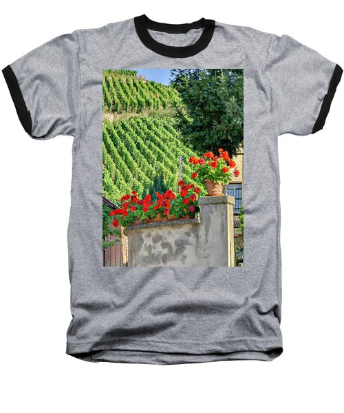 Baseball T-Shirt featuring the photograph Flowers And Vines by Alan Toepfer