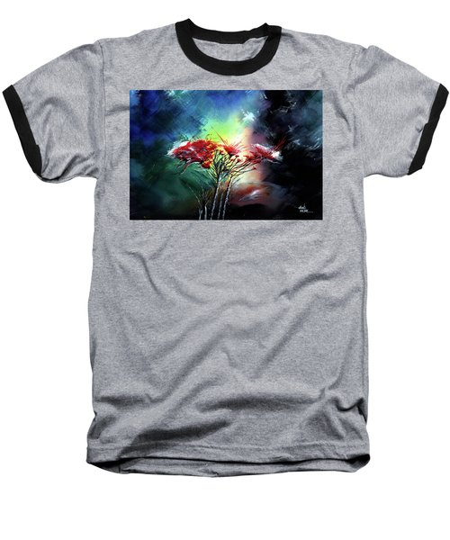 Baseball T-Shirt featuring the painting Flowers by Anil Nene