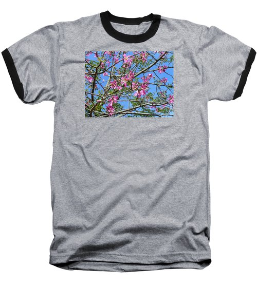 Flowers At Epcot Baseball T-Shirt by Kay Gilley