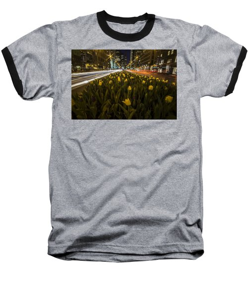 Flowers At Night On Chicago's Mag Mile Baseball T-Shirt