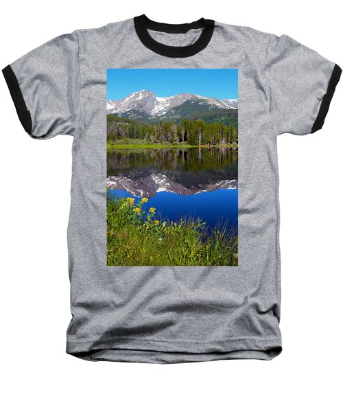 Flowers At Sprague Lake Baseball T-Shirt