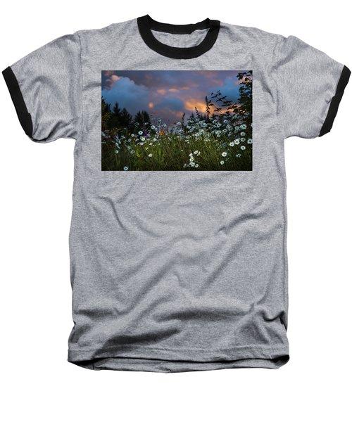 Flowers At Sunset Baseball T-Shirt