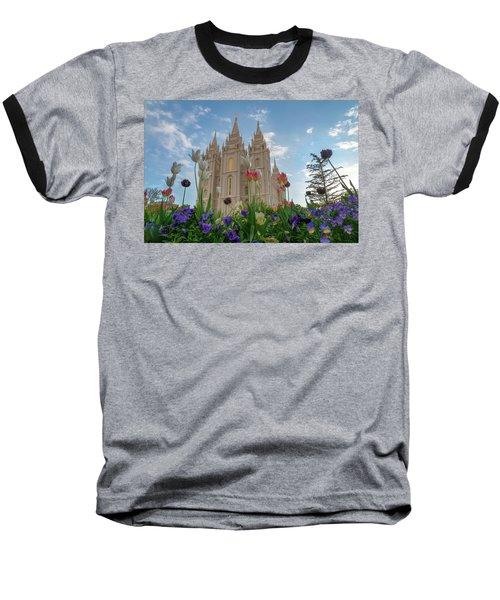 Flowers At Temple Square Baseball T-Shirt