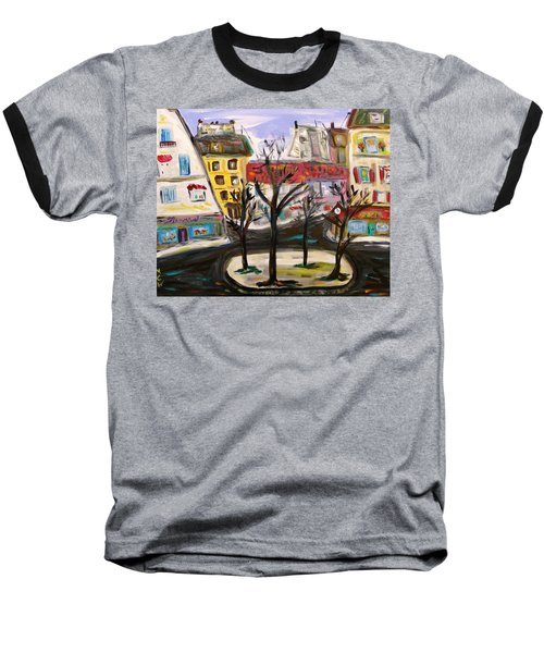 Flowers At The Corner Baseball T-Shirt by Mary Carol Williams