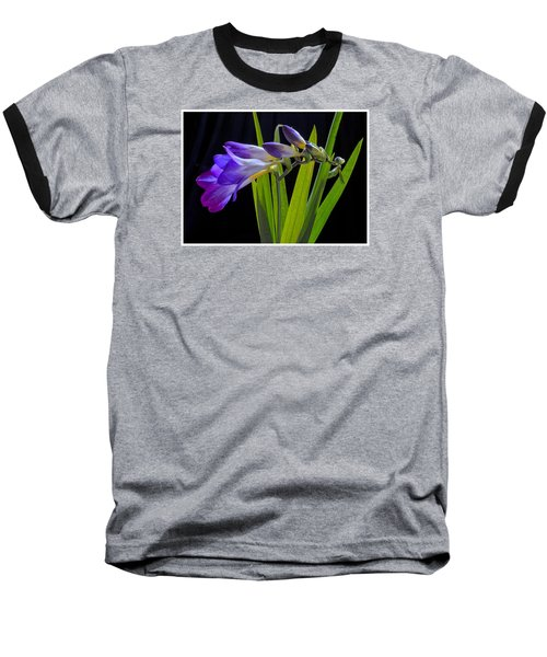 Flowers Backlite. Baseball T-Shirt