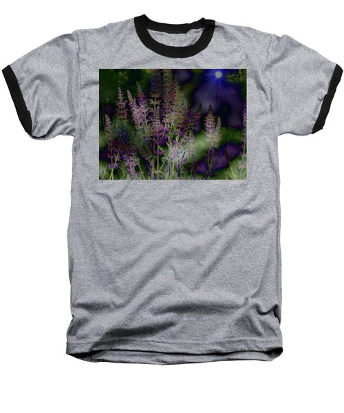 Flowers By Moonlight Baseball T-Shirt