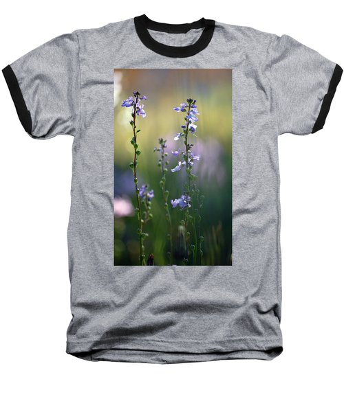 Flowers By The Pond Baseball T-Shirt