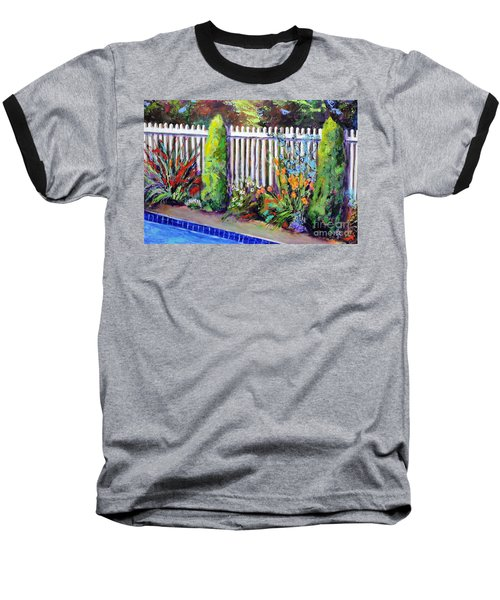 Flowers By The Pool Baseball T-Shirt