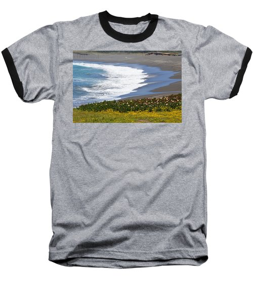 Flowers By The Sea Baseball T-Shirt