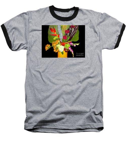 Baseball T-Shirt featuring the photograph Flowers - Fan Arrangement by Merton Allen