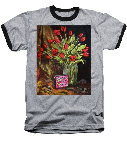 Flowers Feed The Soul Baseball T-Shirt