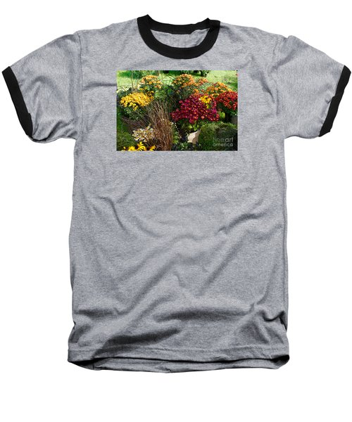 Flowers For Sale Baseball T-Shirt by David Blank