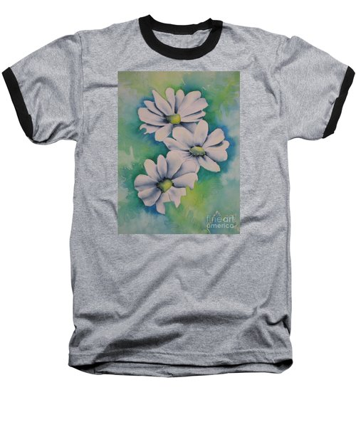 Baseball T-Shirt featuring the painting Flowers For You by Chrisann Ellis