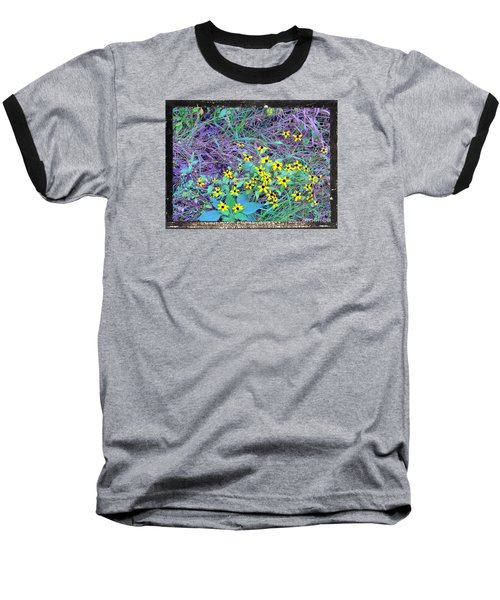 Baseball T-Shirt featuring the photograph Flowers Gone Wild by Shirley Moravec