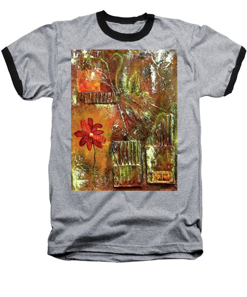 Flowers Grow Anywhere Baseball T-Shirt
