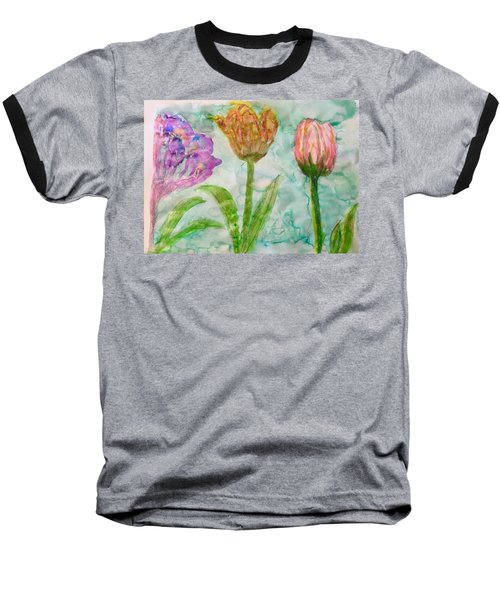 Tulips A'bloom Baseball T-Shirt