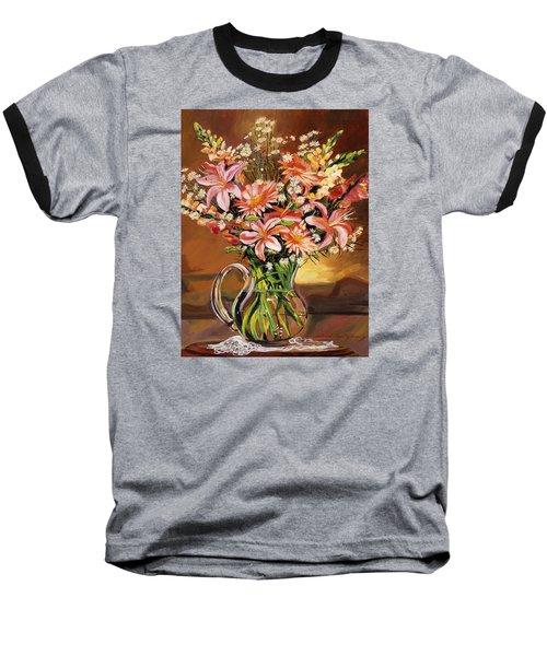 Flowers In Glass Baseball T-Shirt