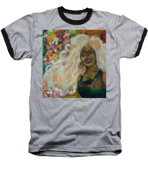 Flowers In Her Hair Baseball T-Shirt