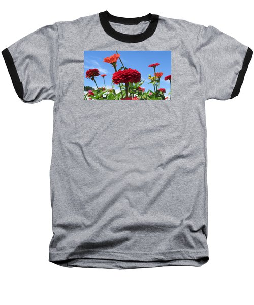 Flowers In The Blue Baseball T-Shirt