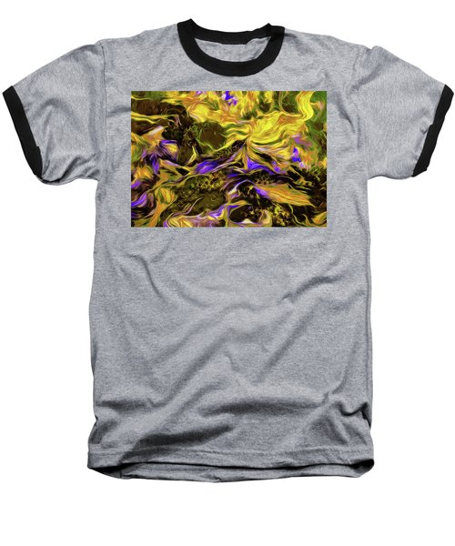 Flowers In The Garden Baseball T-Shirt