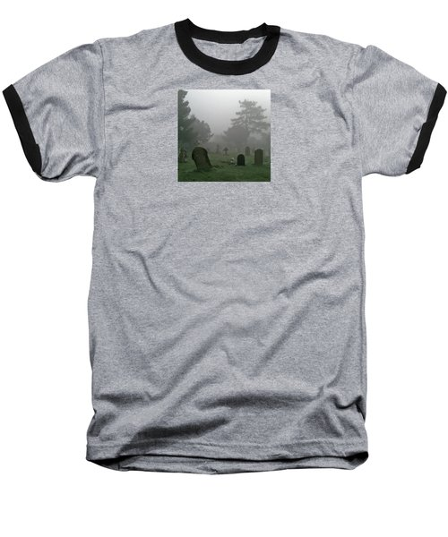 Flowers In The Mist Baseball T-Shirt by Anne Kotan