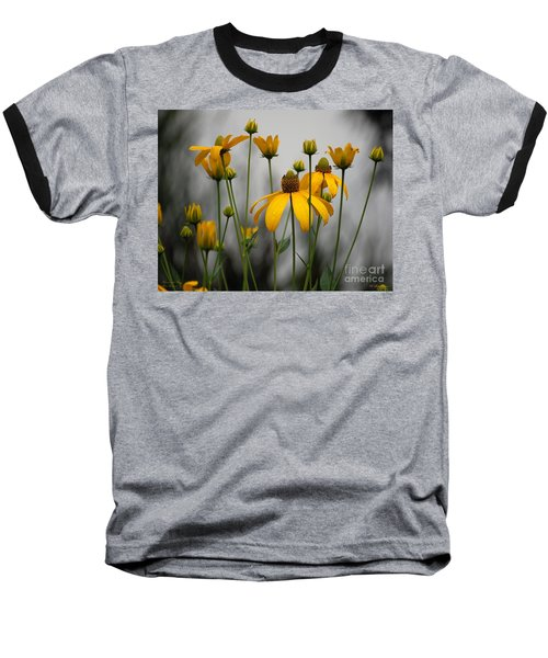 Flowers In The Rain Baseball T-Shirt