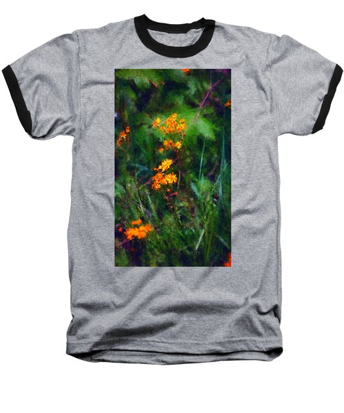 Flowers In The Woods At The Haciendia Baseball T-Shirt by David Lane