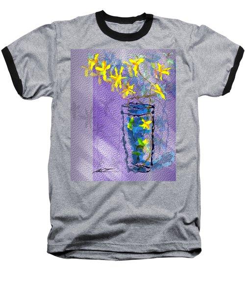 Flowers In Vase Baseball T-Shirt